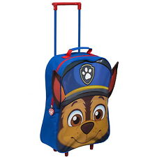 NEW OFFICIAL Paw Patrol Chase Boys Kids Case Luggage Travel Trolley Wheeled Bag