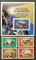 Antigua & Barbuda. Motorcycles. SG919/22. 1985. MNH. (MSC618)