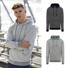 Herren Hoodie Kapuzenpullover Kapuzen Pullover Sweater gestreift XS S M L XL XXL