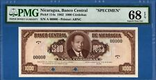 Nicaragua, 1000 Cordobas, 00000 Specimen, Superb Gem UNC-PMG68EPQ,  P114s