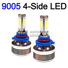 2x 4-Side HB3 9005 LED Headlight Kit Bulbs 80W Super Bright 6000K Crystal White