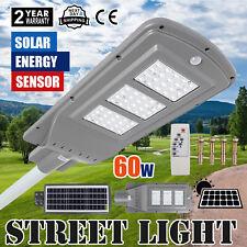 60W Waterproof Solar Power LED Street Road Light Sensor Outdoor Garden Wall/Pole