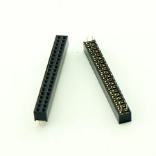 10x Pitch 2.0 2mm 2x20 Pin 40Pin Female Double Row Straight Pin PCB Header Strip