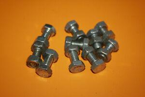 10 Stück Sechskantschrauben mit Muttern M8x16 verzinkt DIN 933 8.8
