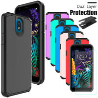 For LG Journey LTE (L322DL) Shockproof Hybrid Case Cover With Screen Protector