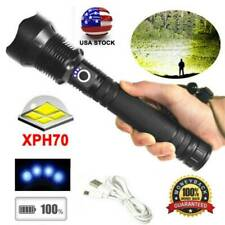 350000 Lumens Rechargeable XHP70 Flashlight Most Powerful LED USB Zoomable Torch