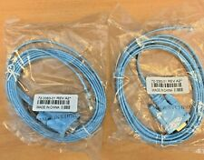 Lot of 2 New Cisco Rj45 to Db9 Cable 72-3383-01 for Switch Router Console Blue