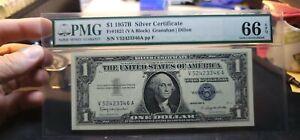 Fr.1621 $1 1957 V Silver Certificate VA Block PMG GEM 66 EPQ