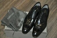 Authentic New Tom Ford Black Leather Oxford Lace-Up Shoes,TF9T/US9.5