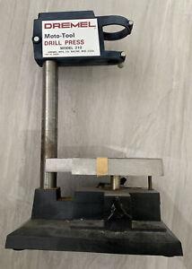Vintage Dremel Drill Press Moto-Tool Model 210 Metal Base USA
