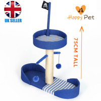 Kitty's 75cm Large Tall Pirate Sailboat Cat Kitten Scratching Post RRP £36.95!
