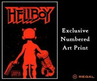 HELLBOY 2019 Red+Black LIMITED NUMBERED Regal POSTER Print 13x19