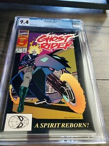 Ghost Rider #v2 #1 CGC 9.4 White Pages,1st Appearance of Dan Ketch & Deathwatch