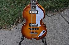 Giannini GB-4V VSB Classic Beatle Violin Semi Hollow Bass Guitar Vintage Burst