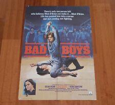 "ORIGINAL MOVIE POSTER ""BAD BOYS"" 1983 ENGLISH FOLDED ONE SHEET"
