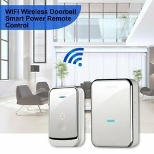 Wireless Doorbell Battery Operated Door Bell Remote Button and Plug-in Receiver