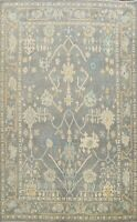 Vegetable Dye Authentic Oushak Turkish Area Rug Hand-knotted Wool Carpet 11'x13'