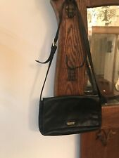 DKNY Donna Karan Black  Leather Flap Shoulder Handbag Purse Evening Everyday