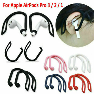 2PCS/Set Silicone Ear Hook Earloop Clip For AirPods Pro 3 2 1 Bluetooth Headset