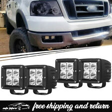 "4x 3"" Fog Light Led Cube Pods Bumper Driving Lamps Fits For 2004-2006 Ford F150"