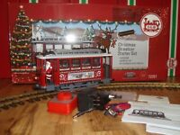 LGB 72351 RED CHRISTMAS TROLLEY STARTER SET! COMPLETE & NEW IN ORIGINAL BOX!