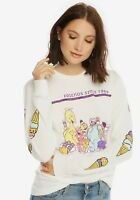 Sesame Street Womens Friends Since 1969 Ice Cream Party Long Sleeve Shirt NWT