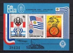 Soccer 1978 C22 MNH Uruguay Block CV 22 eur