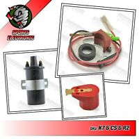 45D6 Powerspark Electronic Ignition Kit + Powerspark Coil & Red Rotor Arm