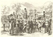 The demonstration in Hyde Park - drawn by John Leech. London. Society 1855