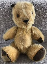 Rare Antique Vintage Chad Valley Sooty Teddy Bear With Label C.1950s