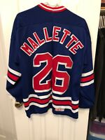 Vintage Troy Mallette New York Rangers Jersey CCM Size Large