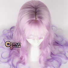 65CM Lolita Ombre Purple Mixed Pink Long Curly Party Cosplay Wig Halloween+Cap