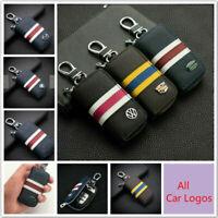 Fashion Leather Car Key Bag Car Remote Key Chain Holder Case Bag For All Cars