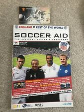 Soccer Aid England Vs Rest Of The World 2006 Programme And Ticket