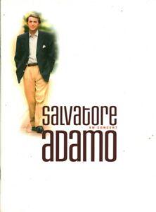 Plaquette de la tournée de Salvatore Adamo