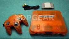 Nintendo 64 console system + N64 controller Daiei orange by TOPGEAR.jp