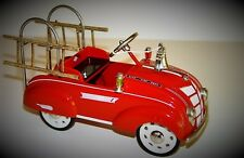 Pedal Car 1930s Plymouth Fire Ladder Truck Vintage Midget Metal Show Model