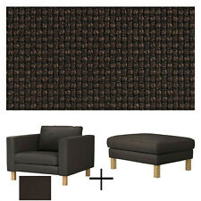 IKEA Karlstad Armchair Footstool COVER Korndal Brown SLIPCOVER for Chair Ottoman