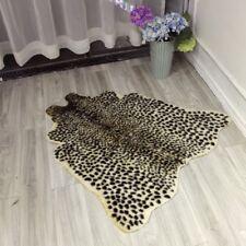 100x95cm Animal Leopard Zebra Cow Hide Faux Fur Rug Carpet Blanket Mat Washable
