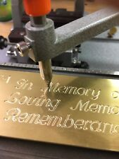 Text Plate Memory Master Template Brass Engraving Plate For New Hermes Font Tray