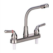 """Rv Kitchen Faucet 8"""" Tall Spout Brushed Nickel Replacement Faucet Camper"""