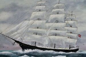 Vintage Maritime -Clipper -Oil Painting
