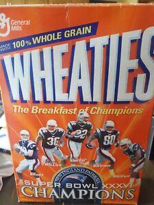 New England Patriots, Super Bowl XXXVI Champs Wheaties Box -SEALED