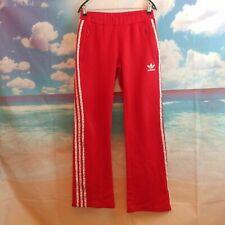 Adidas Trébol Rojo Chándal Pantalones Chándal Originals Reino Unido para mujer Talla 10. W28 L33