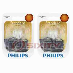 2 pc Philips Brake Light Bulbs for Chrysler 300 Aspen Breeze Cirrus Concorde oy