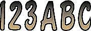 """3"""" Letter Registration Kit Number Sticker Decals Boat PWC Brown Black Reg"""