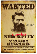 NED KELLY - AUSTRALIAN OUTLAW & BUSHRANGER SIGNED MEMORABILIA - PHOTO / POSTER