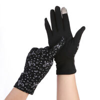 Women Sunscreen Stretch Touch Screen Gloves Summer Sunscreen Thin Non-slip Glove
