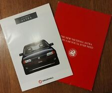 1993 Vauxhall Astra Models Sales Brochure Edition Number 1