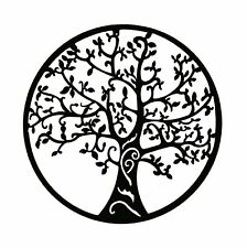 Bellaa 20247 Tree of Life Metal Wall Art Hanging Decor 24 Inch